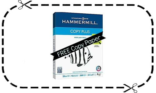 staples coupon hammermill copy paper