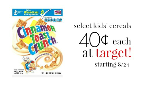 target deal reminder: cereal for 40¢ each, ending 8/30 :: southern ...
