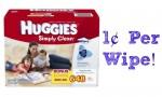 Amazon Deal: Huggies Simply Clean Wipes, 1¢ Per Wipe