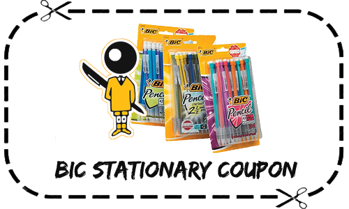 BIC stationary coupon