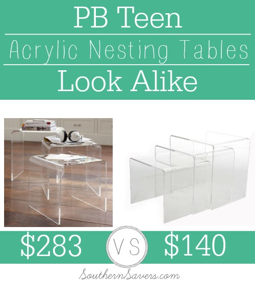 PB Teen Nesting Tables Look Alike