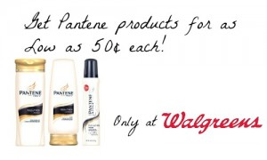 Pantene 50 cent deal walgreens