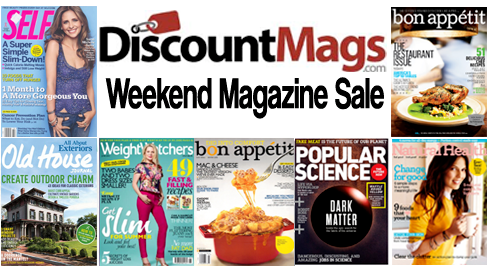 discountmags 9-12 weekend sale