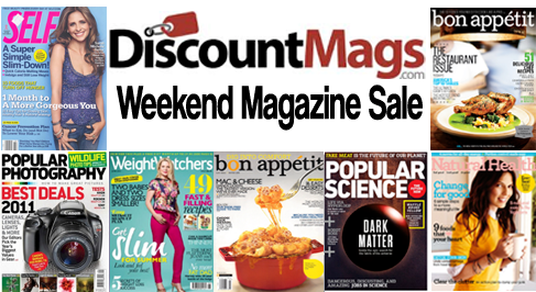 discountmags 9-6 weekend sale