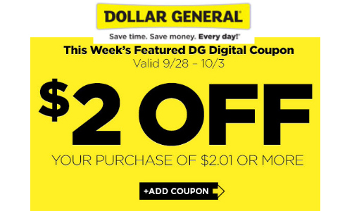 New Dollar General Coupon 2 Off Purchase Of 2 01 Or More Southern Savers