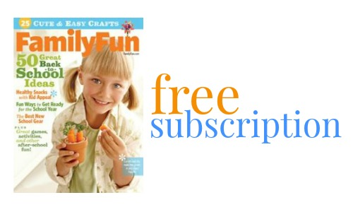 Subscription to FamilyFun Magazine, Free