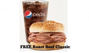 free arby's roast beef