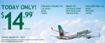 Frontier Airline Ticket | $14.99 One Way, Today Only!