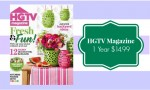 HGTV Magazine Subscription, $14.99