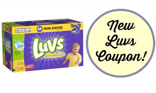 New Luvs Coupon + Target Diaper Deal