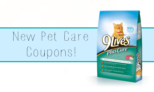 new pet care coupons