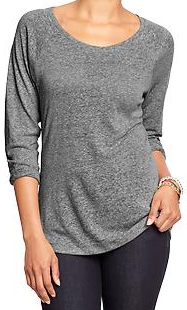 old navy linen blended tee