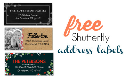 shutterfly coupon code free address labels southern savers