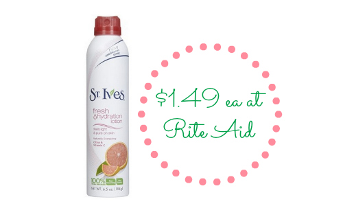 st ives lotion at rite aid