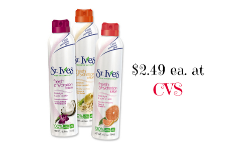 st. ives lotion at cvs