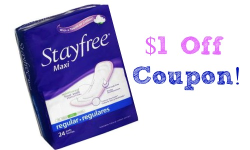 stayfree pads coupon