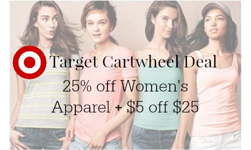 target cartwheel apparel deal