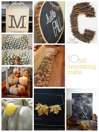 10 fall decorating crafts