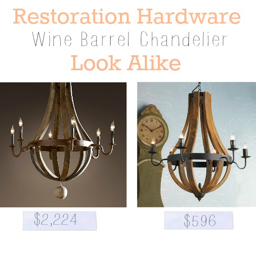 Restoration Hardware Wine Barrel Look Alike