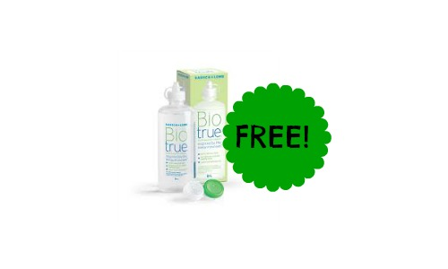 free biotrue contact solution