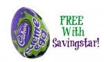 Savingstar eCoupon: FREE Cadbury Screme Egg