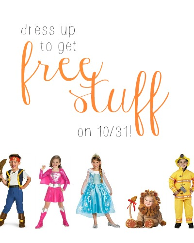 Get FREE stuff from certain restaurants and retailers when you dress up on 10/31!
