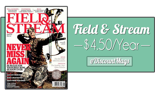 field and stream magazine subscriptions 4.50 a year2