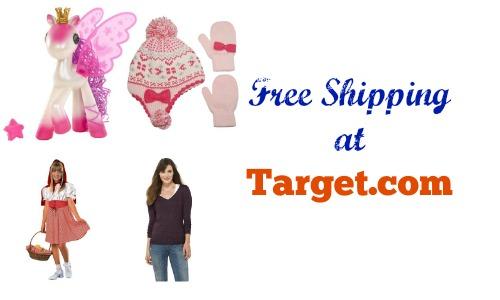 free shipping at target1