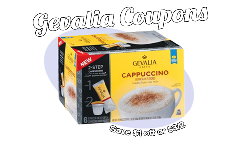image relating to Gevalia Printable Coupons named Gevalia Coupon codes Conserve $1 off or $3/2 Cappuccino or Latte