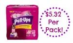Pull-Ups Coupon | $5.32 Per Pack at CVS