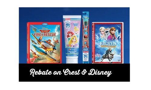 rebate on crest and disney