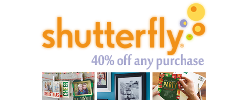 shutterfly coupon code 40 off