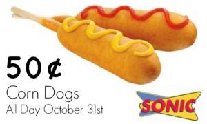 sonic corndogs 50¢ day