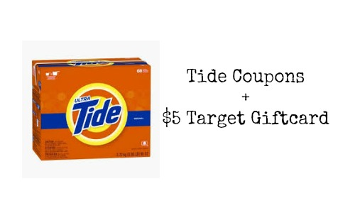 tide coupons and target giftcard