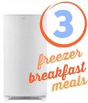 Freezer Breakfast Recipes + Freezer Giveaway Winner