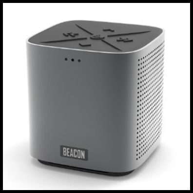 Beacon Audio Blazar Deep Graphite Portable Bluetooth Speaker and Speakerphone