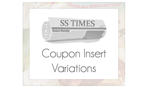 COUPON INSERT VARIATIONS IMAGE