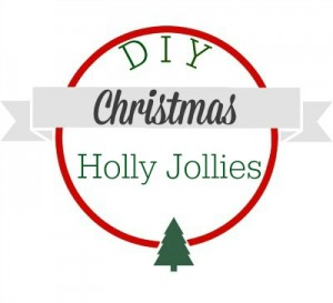 DIY Christmas Holly Jollies