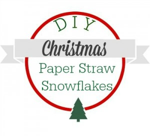 DIY Christmas paper straw snowflakes