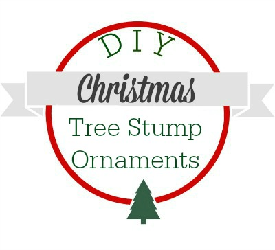DIY Christmas tree stump ornaments