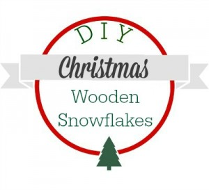 DIY Christmas wooden snowflakes