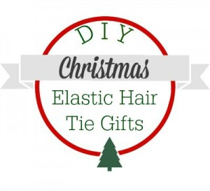 DIY Christmas.  Make your own elastic hair ties.