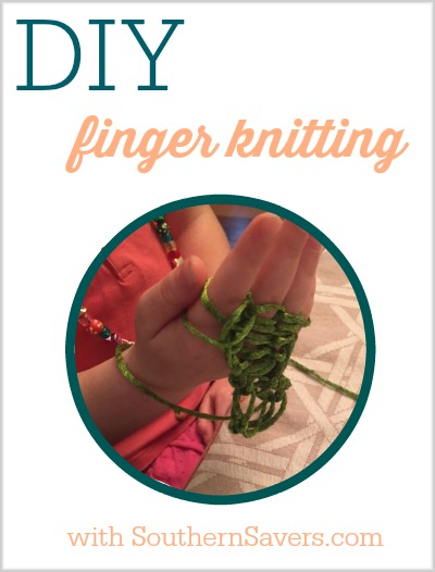 DIY finger knitting is great for garland at Christmas time.
