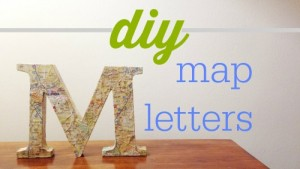 DIY hometown map letters.