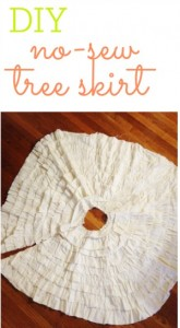DIY no-sew Christmas Tree Skirt