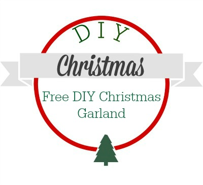 Make your own FREE Christmas garland this year with this tutorial.