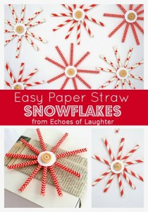 Paper Straw Snowflakes