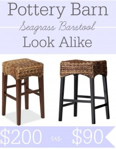 Pottery Barn seagrass barstool look alike