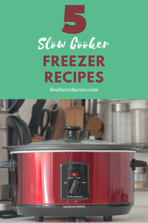 Make dinner super easy with these 5 slow cooker freezer recipes. All you have to do is pull them out of the freezer and put them in the slow cooker!