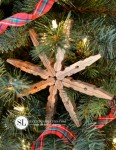 DIY Christmas:  Wooden Clothespin Snowflakes
